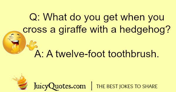 giraffe joke about a toothbrush