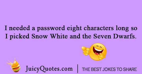 Password one liner joke
