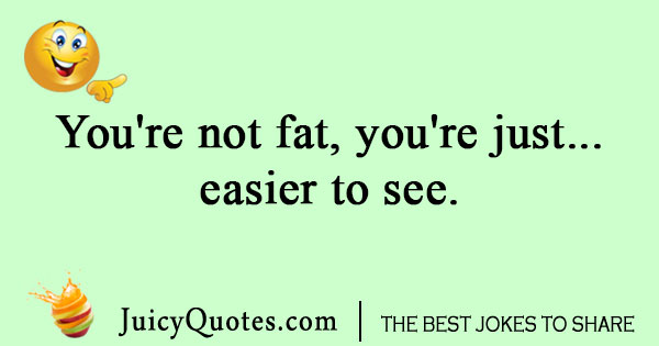 One liner joke about being fat