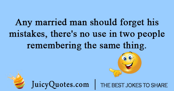 Married man one liner joke