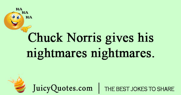 Chuck Norris Nightmare Joke