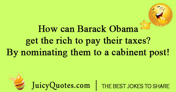 Barack Obama get rich joke