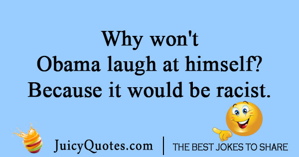 Laughing Obama Joke
