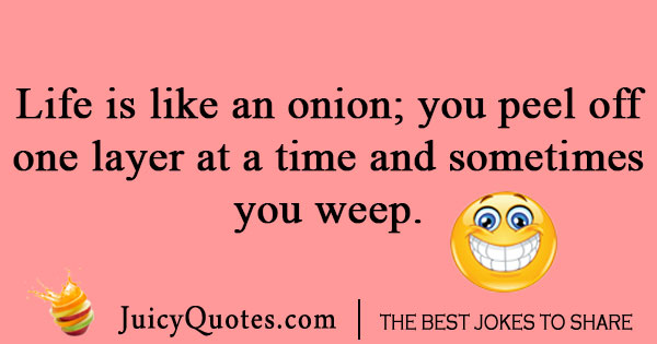 Life is like an onion joke