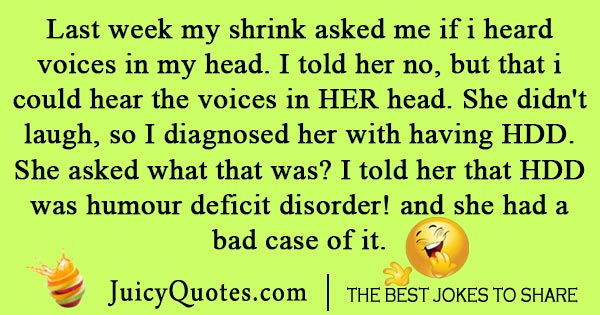 Funny Psychiatry Joke