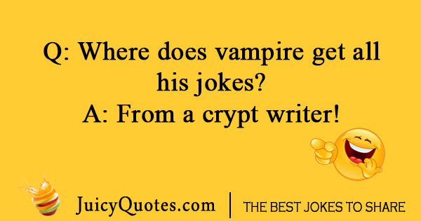 Silly vampire jokes