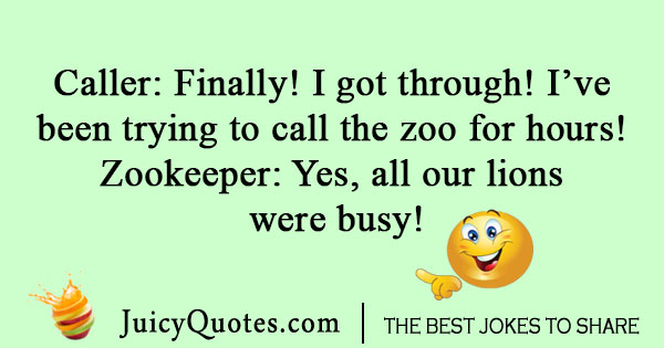 Calling the zoo joke