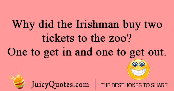 Irishman Zoo Joke