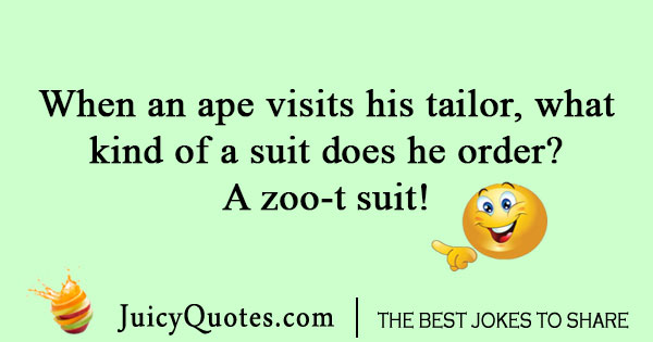 Ape getting a suit joke