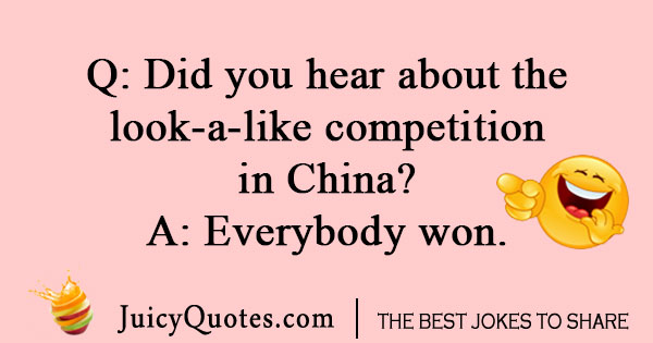 Chinese competition joke