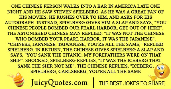 Chinese in a bar joke