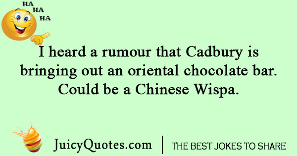 Oriental chocolate bar joke