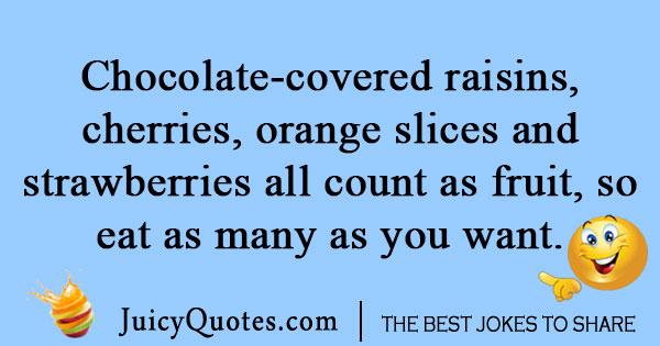 Chocolate covered raisins joke