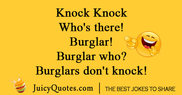 Knock Knock Crime Joke