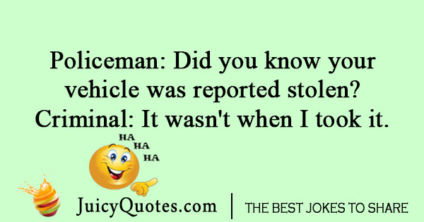 Policeman and criminal joke