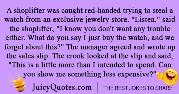 Shoplifter crime joke