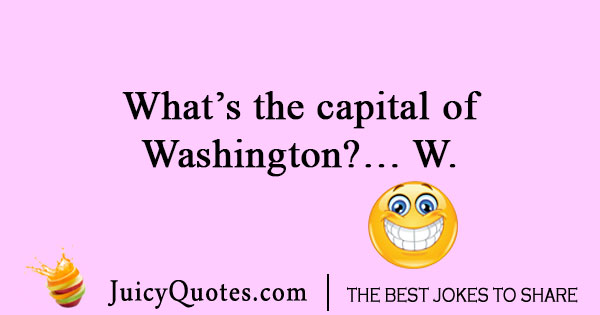 Geography joke about Washington