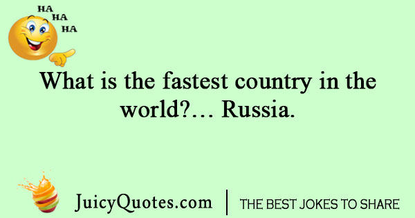 Geography joke about Russia