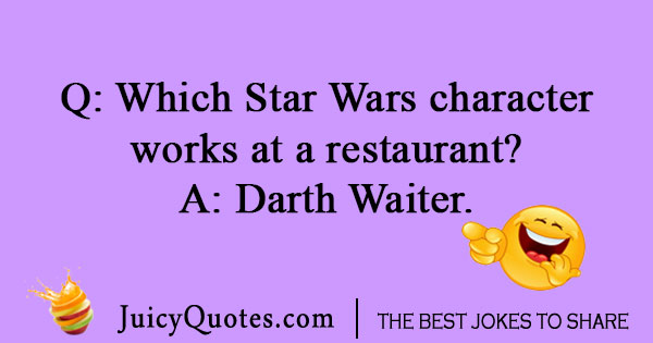 Star Wars joke about a waiter