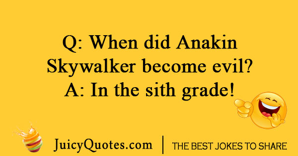 Star Wars joke about Anakin