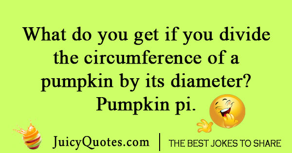 Pumpkin joke for Thanksgiving