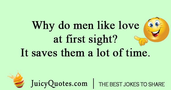 Love at first sight time joke