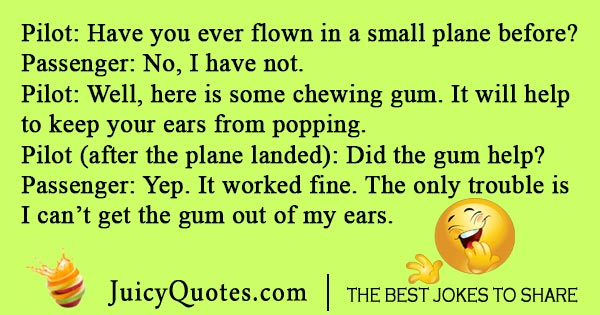 Funny airplane pilot joke