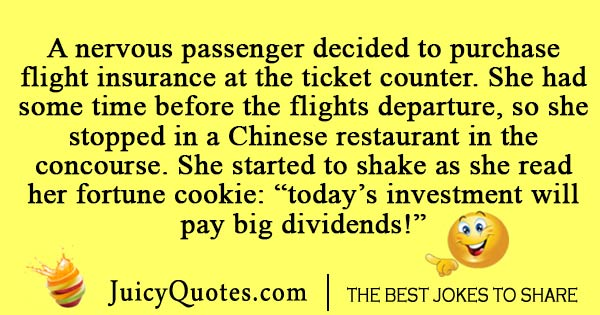 Nervous airplane passenger joke