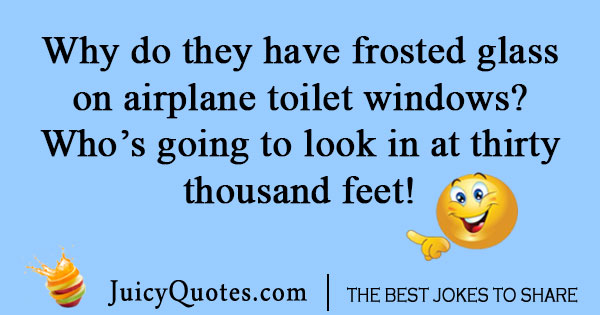 Airplane toilet joke
