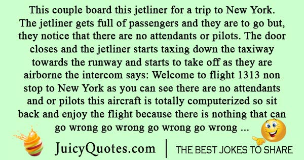 Airplane flight to New York joke