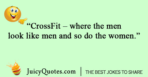 Man and woman CrossFit joke