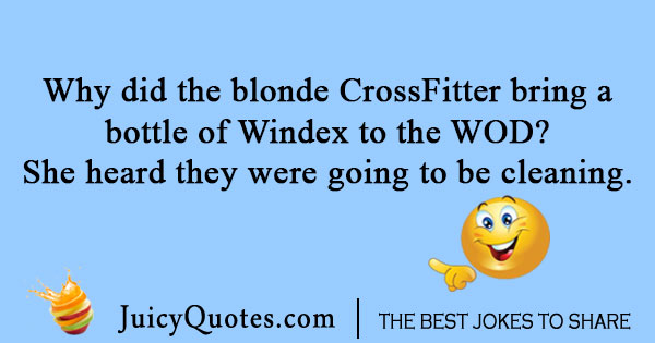 Blonde CrossFit joke