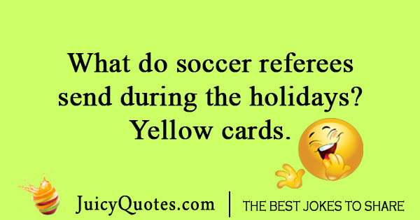 Soccer referee joke