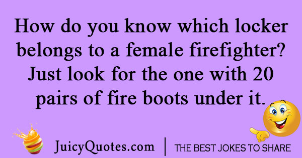 Female firemen joke