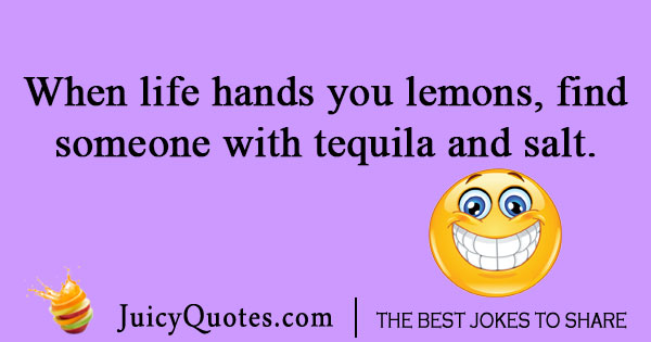 Tequila and lemon joke