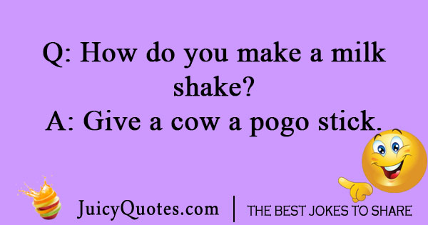 Making a milkshake joke