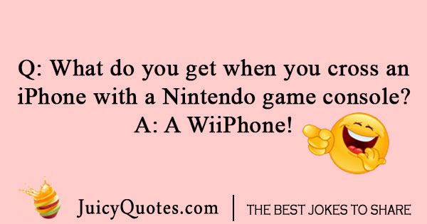 iPhone and Nintendo joke