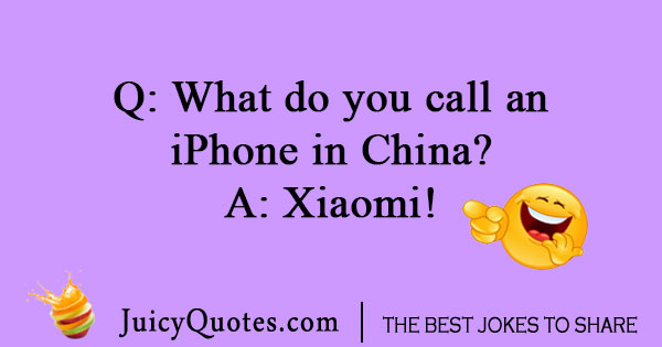 Chinese iPhone joke