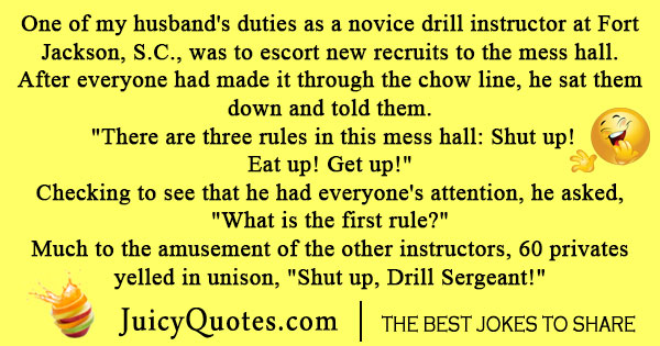 Army Drill Sargent Joke