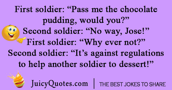 Silly Army Joke