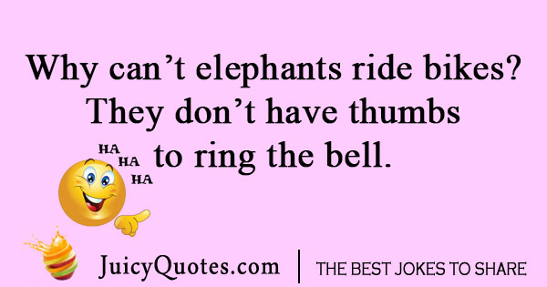 Elephant Bike Joke