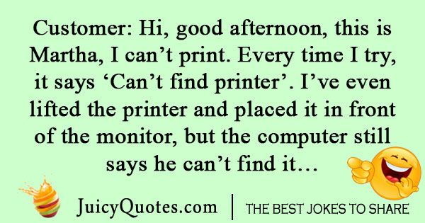 Printer Call Center Joke