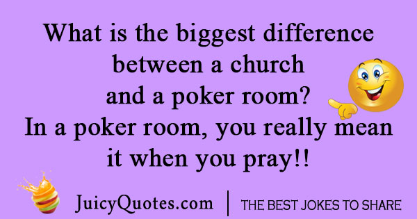 Poker Room Card Game Joke