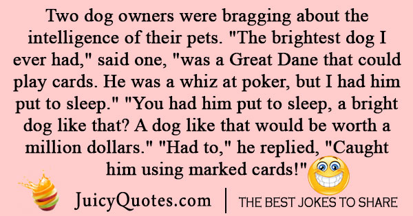 Dog Card Game Joke