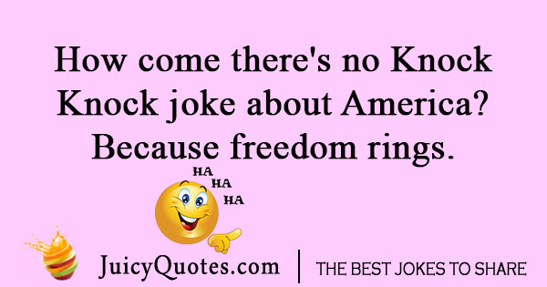 Fourth of July Knock Knock joke