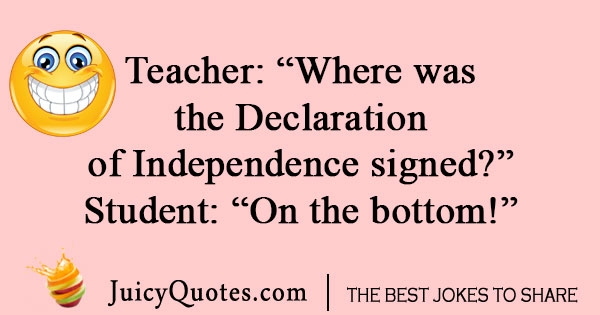 Declaration of Independence joke