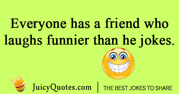 Laughing friend joke