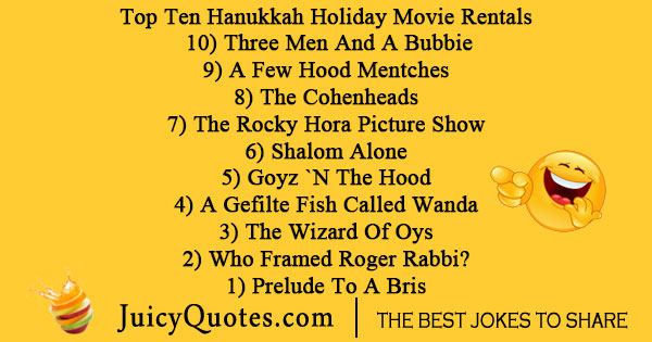 Hanukkah holiday movie joke