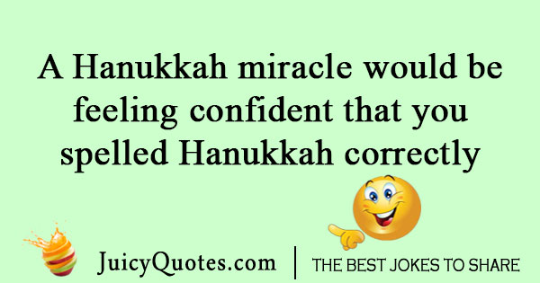 Hanukkah miracle joke