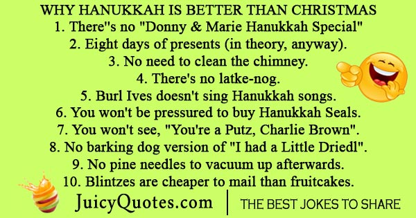 Hanukkah and Christmas joke